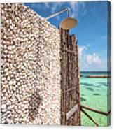 Blue Lagoon View Canvas Print