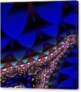 Blue Leaf Canvas Print