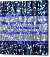 Blue Lights Abstract Christmas Canvas Print