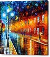 Blue Lights Canvas Print