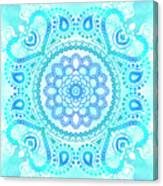 Blue Lotus Mandala Canvas Print