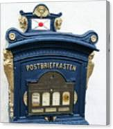 Blue Mailbox Canvas Print