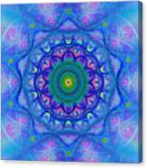 Blue Mandala For Heart Chakra Canvas Print