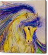 Blue Mane And Tail Canvas Print