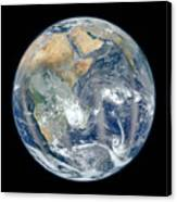 Blue Marble 2012 - Eastern Hemisphere Of Earth Canvas Print