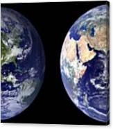 Blue Marble Composite Images Generated By Nasa Canvas Print