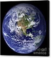 Blue Marble Earth, North America Canvas Print