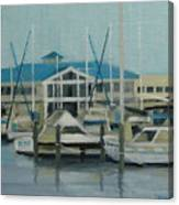 Blue Marina Canvas Print