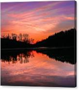 Blue Marsh Lake Sunset Canvas Print