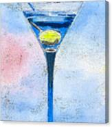 Blue Martini Canvas Print
