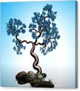 Blue Math  Tree 2 Canvas Print