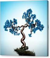 Blue Math  Tree Canvas Print