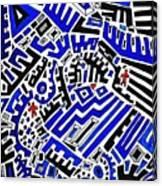 Blue Maze Canvas Print