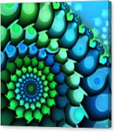 Blue Meets Green Canvas Print