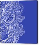 Blue Mehndi Canvas Print