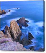 Blue Mermaid Reef At Sunset Canvas Print