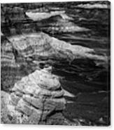 Blue Mesa Outcrop Canvas Print