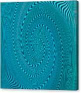Blue Metal Spca Canvas Print
