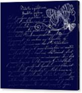 Blue Midnight Butterfly Canvas Print