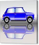 Blue Mini Car Canvas Print