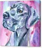 Blue Mood - Great Dane Canvas Print