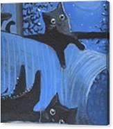 Blue Moon Halloween Canvas Print
