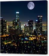 Blue Moon Over L.a. Canvas Print