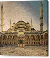 Blue Mosque At Sunrise Canvas Print