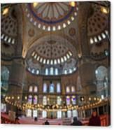 Blue Mosque Interior Canvas Print