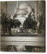 Blue Mosque - Sketch Canvas Print