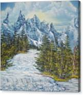 Blue Mountain Torrent Canvas Print