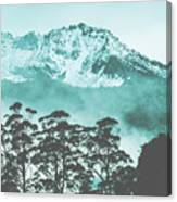 Blue Mountain Winter Landscape Canvas Print