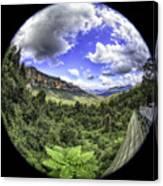 Blue Mountains Fisheye Canvas Print
