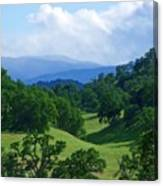 Blue Mountains Green Pastures Canvas Print