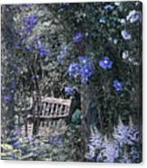 Blue Muted Garden Respite Canvas Print