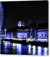 Blue Night In London Canvas Print