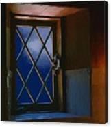 Blue Night Through Casement Canvas Print