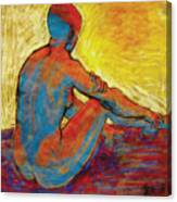 Blue Nude Canvas Print