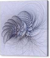 Blue Pagliai Ferns Canvas Print