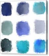 Blue Palette, No.1 Canvas Print