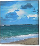 Blue Paradise, Scenic Ocean View From The Bahamas Canvas Print