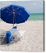 Blue Paradise Umbrella Canvas Print