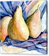 Blue Pears Canvas Print