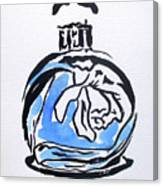 Blue Perfume Bottle Canvas Print