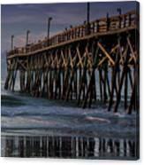 Blue Pier Canvas Print