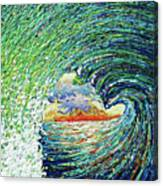 Blue Pipeline Canvas Print