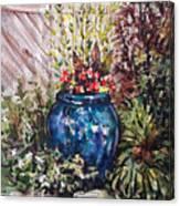 Blue Planter Canvas Print