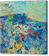 Blue Play 4 Canvas Print