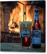 Blue Point Winter Ale By The Fire Canvas Print
