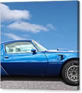 Blue Pontiac Trans Am 1978 Canvas Print